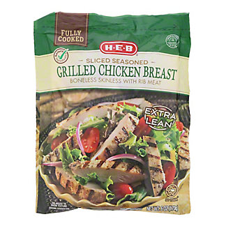 H-E-B Select Ingredients Fully Cooked Sliced Grilled Chicken Breasts, 6 oz