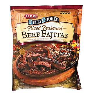 H-E-B Fully Cooked Sliced Seasoned Beef Fajitas,6 OZ