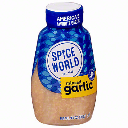 Spice World Squeeze Minced Garlic, 9.5
