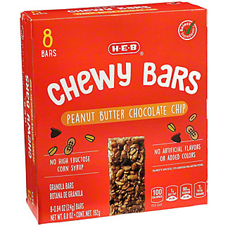 H-E-B Chewy Peanut Butter Chocolate Chip Granola Bars,8 CT