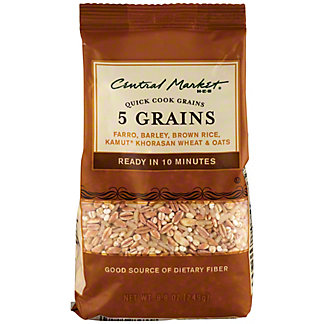 Central Market 5 Grain Quick Cook Grains, 8.8 oz