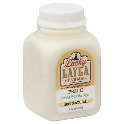 Lucky Layla Drinkable Peach Yogurt,8 OZ