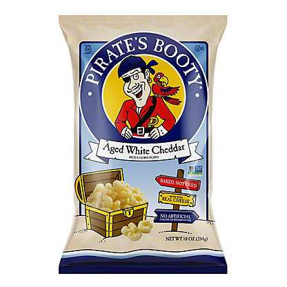 Pirate's Booty Aged White Cheddar Puffed Rice and Corn, 10 oz