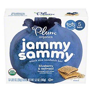 Plum Organics Jammy Sammy Organic Blueberry and Oatmeal, 5 ct