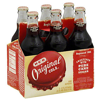 H-E-B Original Cola 6 PK Bottles,12 OZ
