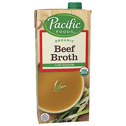 Pacific Foods Organic Low Sodium Beef Broth, 32 oz