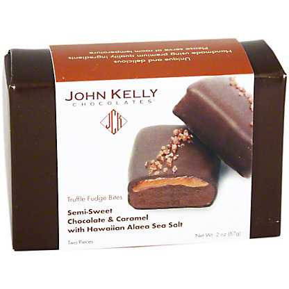 John Kelly Truffle Fudge Bites Caramel With Hawaiian Alaea Sea Salt, 2 OZ