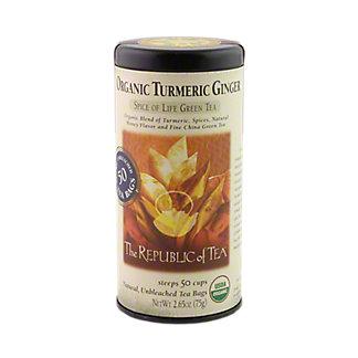 The Republic of Tea Organic Tumeric Ginger Green,50 CT