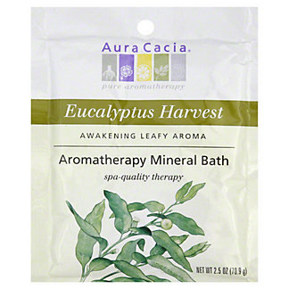 Aura Cacia Pure Aromatherapy  Eucalyptus Harvest Mineral Bath, 2.5 OZ