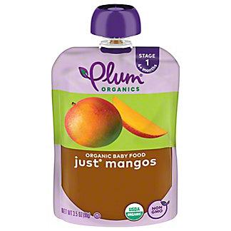 Plum Organics Stage 1 Just Mangos Baby Food, 3.5 oz