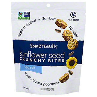 Somersault Snack Co. Sea Salt Sunflower Seed Snacks,6 OZ
