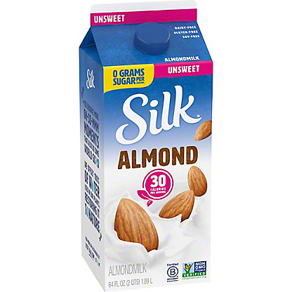 Silk Original Unsweetened Almondmilk, 1/2 gal