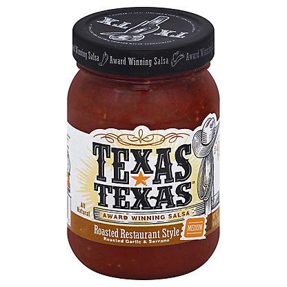 Texas-Texas Roasted Restaurant Style Medium Salsa,16 OZ