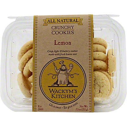 Wackym's Kitchen Lemon Butter Cookies, 8 oz
