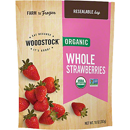 Woodstock Organic Frozen Whole Strawberries,EACH