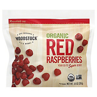 Woodstock Frozen Organic Red Raspberries,EACH