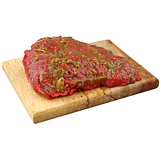 Central Market Roasted Hatch Chile Marinated Beef Sirloin SS, LB