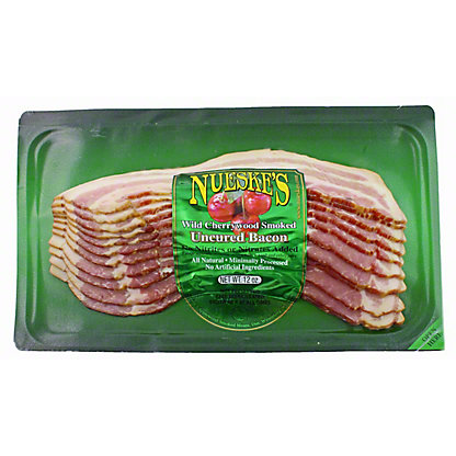 Nueske's Wild Cherrywood Smoked Uncured Bacon, 12 OZ