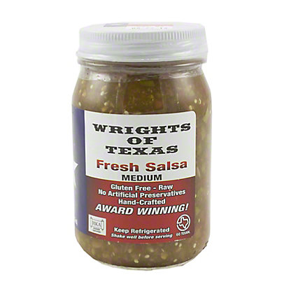 Wrights of Texas Fresh Salsa Medium, 16 oz