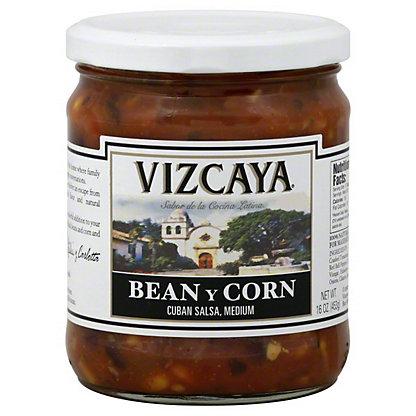 Vizcaya Cuban Medium Bean y Corn Salsa,16.0OZ