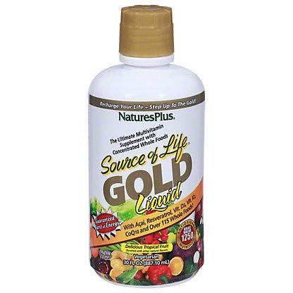 Nature's Plus Source of Life Gold Multi-Vitamin Tropical Fruit Flavored Liquid, 30 OZ