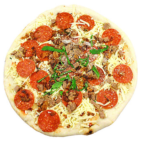 CENTRAL MARKET Pepperoni Sausage Bacon Pizza