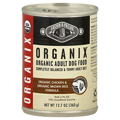 Castor & Pollux Organix Adult Organic Chicken And Organic Brown Rice Formula Dog Food,12.7 OZ