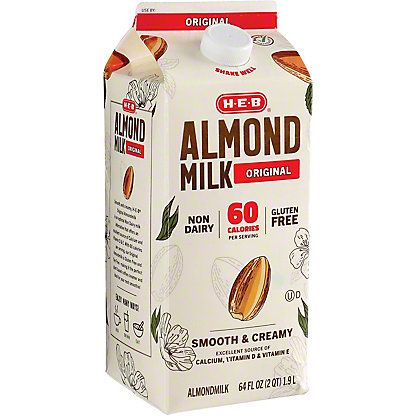 H-E-B Original Almondmilk, 1/2 gal