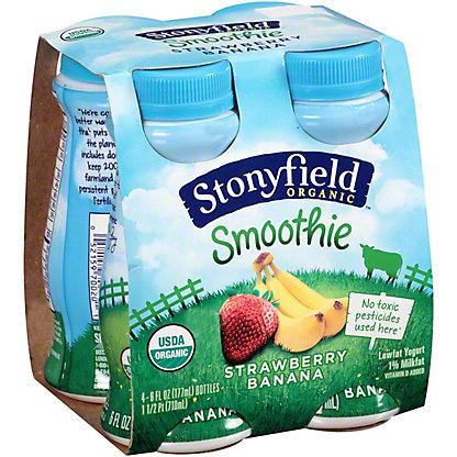 Stoneyfielld Organic Strawberry Banana Smoothie,4/6oz