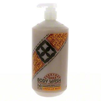 Everyday Shea Vanilla Mint Moisturizing Body Wash,32 OZ