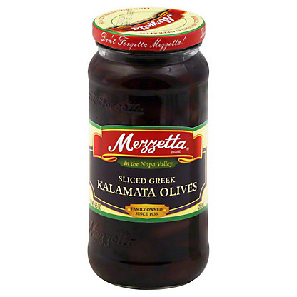 Mezzetta Sliced Greek  Kalamata Olives,9.5 OZ