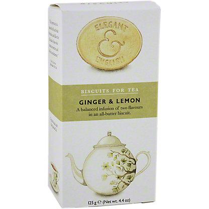 Elegant & English Artisan Tea Biscuits Ginger & Lemon, 4.4 oz