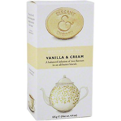 Elegant & English Artisan Tea Biscuits Vanilla & Cream, 4.4 oz