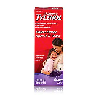 Tylenol Children's Pain + Fever Grape Oral Suspension, 4 oz