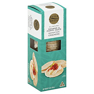 Waterwheel Sesame and Poppyseed Crackers,3.5 OZ