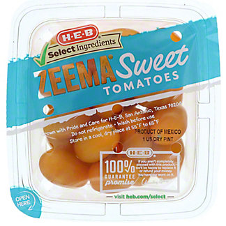 H-E-B Select Ingredients Zeema Sweet Tomatoes, 1 Pint