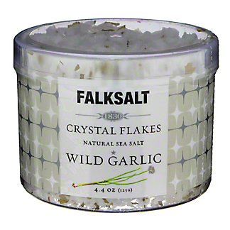 Falksalt Wild Garlic Sea Salt Crystal Flakes, 4.4 oz