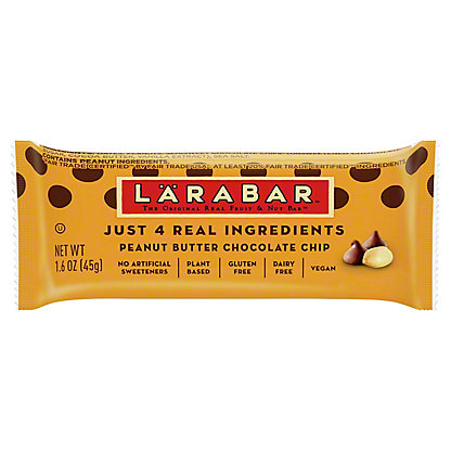 Larabar Peanut Butter Chocolate Chip Fruit and Nut Food Bar,1.6 OZ