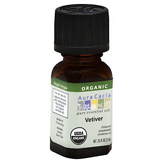 Aura Cacia Organic Vetiver Essential Oil, EACH