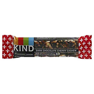 Kind Plus Dark Chocolate & Cherry Cashew Fruit and Nut Bar, 1.4 oz