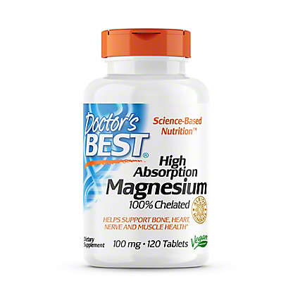 Doctor's Best High Absorption Magnesium Tablets, 120 CT