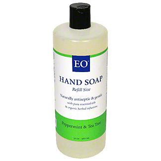 EO Peppermint & Tea Tree Botanical Liquid Hand Soap Refill, 32 OZ