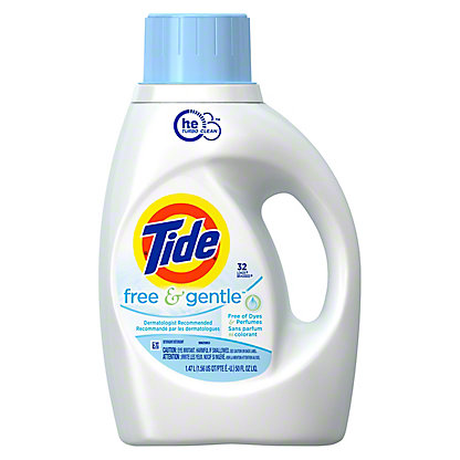 Tide Free & Gentle HE Turbo Clean Liquid Laundry Detergent 32 Loads, 50 oz