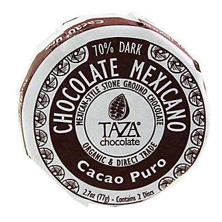 TAZA Taza Organic Chocolate Disc Cocao Puro,2.7OZ