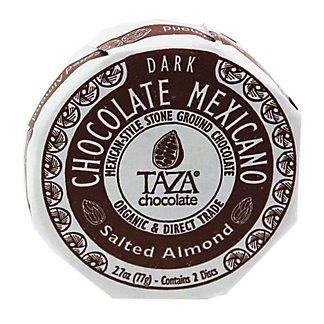 TAZA Taza Organic Chocolate Disc Salted Almond,2.7OZ