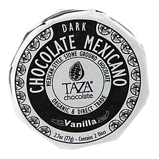 TAZA Taza Organic Chocolate Disc Vanilla Bean,2.7OZ