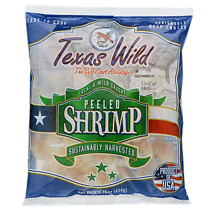 Texas Bay Raw Peeled Wild Gulf Shrimp, 16 oz