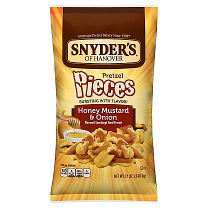 Snyder's of Hanover Honey Mustard and Onion Pretzel Pieces,12 OZ