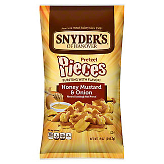 Snyder's of Hanover Honey Mustard and Onion Pretzel Pieces,12 OZ