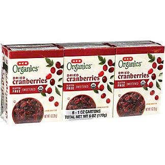 H-E-B Organics Dried Cranberries 6 CT,1 OZ